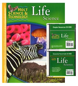 LIFE SCIENCE KIT Grades 6-9 w/Text, Parent Guide CD, Tests, Labs