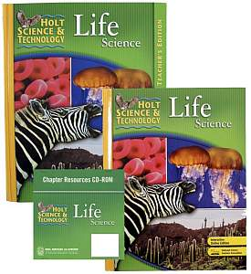 LIFE SCIENCE KIT Grades 6-9 w/Text, Teacher Edition, Tests, Labs