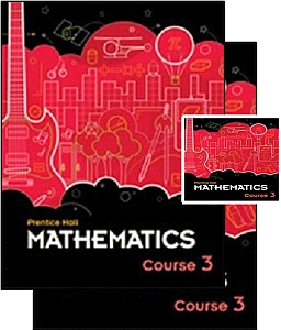Prentice Hall Math Course 3 - Grade 8 Bundle