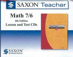 Saxon Math Teacher - Math 76 Grade 6 Tutor CD
