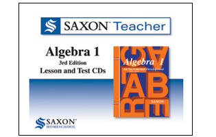Saxon Math Teacher - Algebra 1 Tutor CD