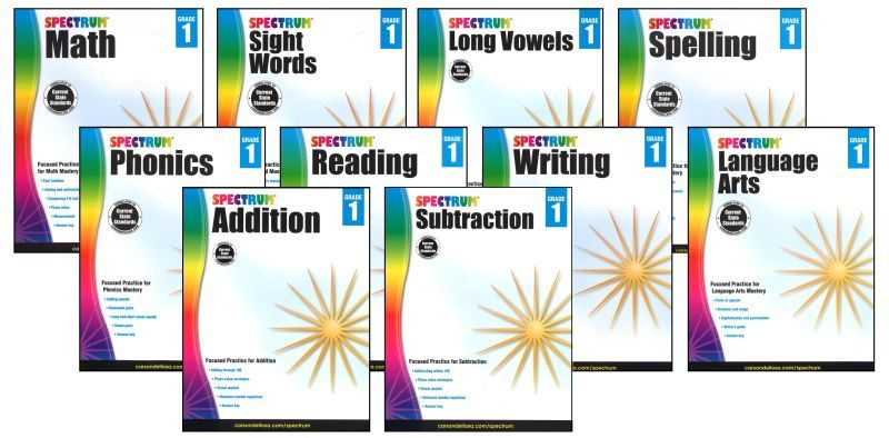 SPECTRUM Curriculum Package for Grade 1 - Set of 6 Workbooks & L