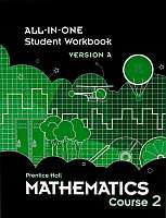 Prentice Hall Math Course 2 Grade 7 Student Workbook