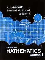Prentice Hall Math Course 3 Grade 8 Student Workbook