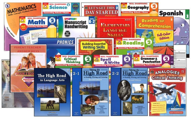 Basic 2nd Grade Homeschool Bundle - Full Year