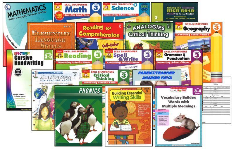 Basic 3rd Grade Homeschool Bundle - Full Year
