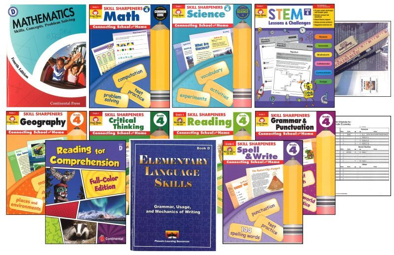 Basic 4th GradeHomeschool Bundle - Full Year