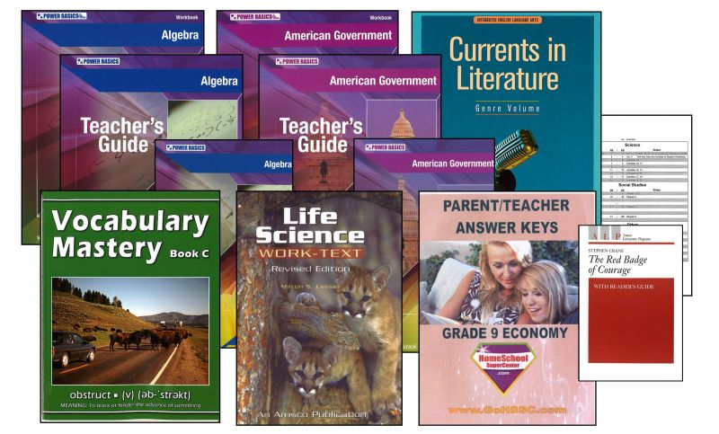 Basic 9th Grade Homeschool Bundle - Full Year